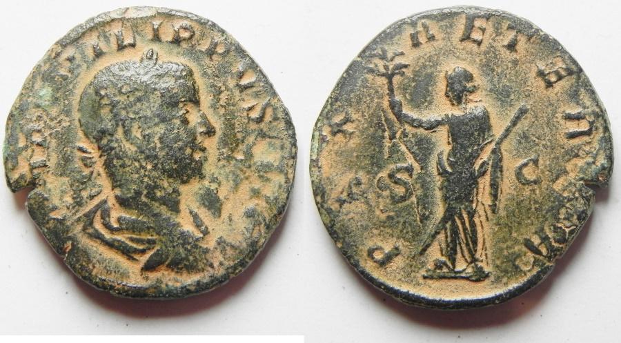 Ancient Coins - PHILIP II AE SESTERTIUS