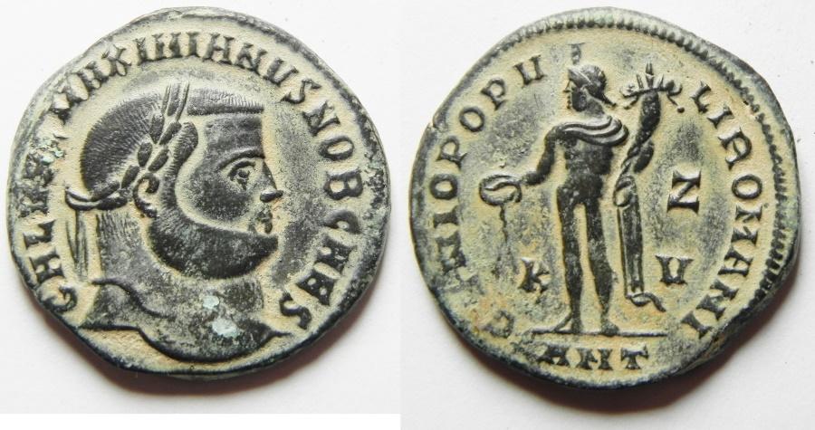 Ancient Coins - Galerius. As Caesar, A.D. 293-305. Æ follis. Antioch.