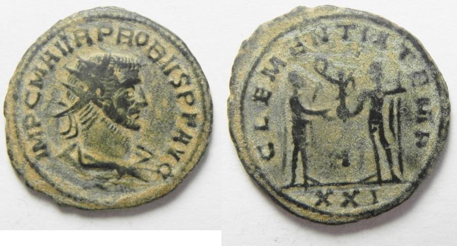 Ancient Coins - PROBUS AE ANTONINIANUS, BEAUTIFUL QUALITY, NICE ORIGINAL DESERT PATINA