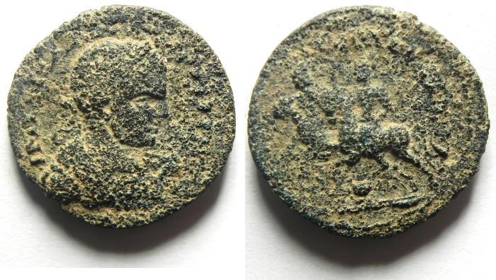 Ancient Coins - JUDAEA, Aelia Capitolina (Jerusalem). Elagabalus, AD 218-222, Æ 23mm
