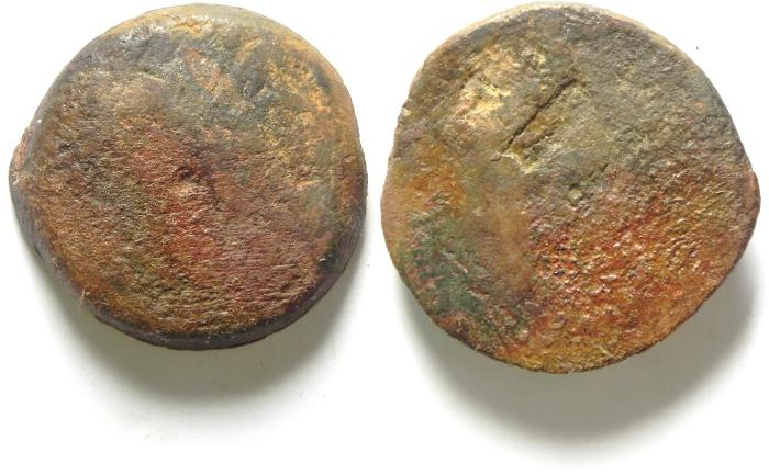 Ancient Coins - PTOLEMAIC KINGDOM , PTOLEMY IV AE 36 , 44.14 GM , COUNTERMARKED