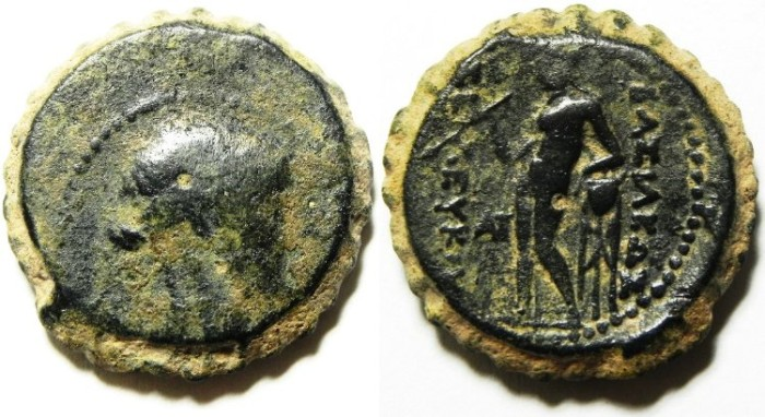 Ancient Coins - SELEUKID KINGDOM , SELEUKOS IV AE 23