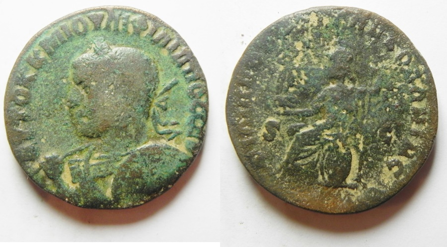 Ancient Coins - Arabia. Philipopolis under Philip I (AD 244-249). AE 27mm, 15.9g. UNPUBLISHED