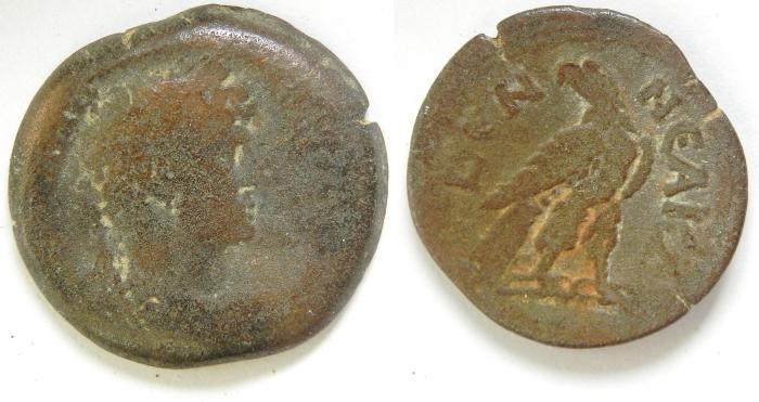 Ancient Coins -   EGYPT , ALEXANDRIA , HADRIAN AE DIOBOL