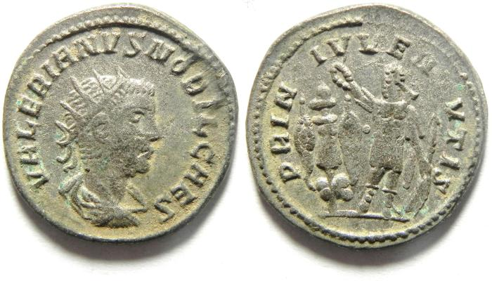 Ancient Coins - Valerian II. Caesar, AD 256-258. AR Antoninianus , Samosata mint. A BEAUTIFULL CHOICE COIN
