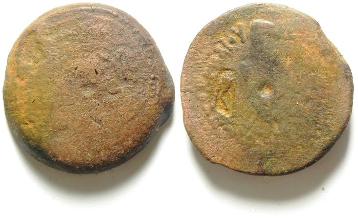Ancient Coins - PTOLEMAIC KINGDOM , PTOLEMY IV AE 35 , 39.97 GM , COUNTERMARKED