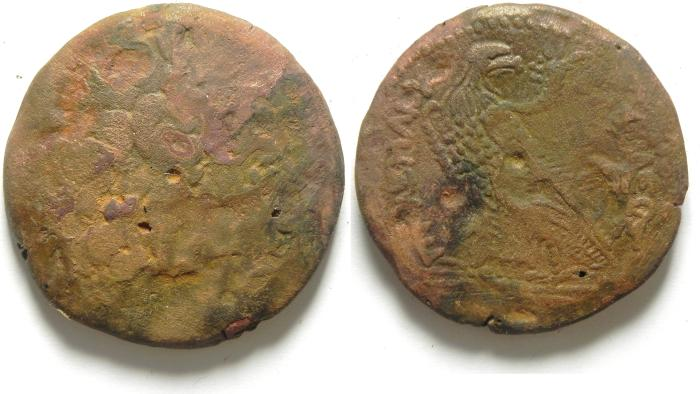 Ancient Coins - PTOLEMAIC KINGDOM , PTOLEMY IV AE 39 , 38.65 GM