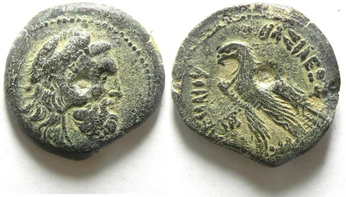 Ancient Coins - PTOLEMAIC KINGDOM, PTOLEMY VI, BEARDED HERAKLES.