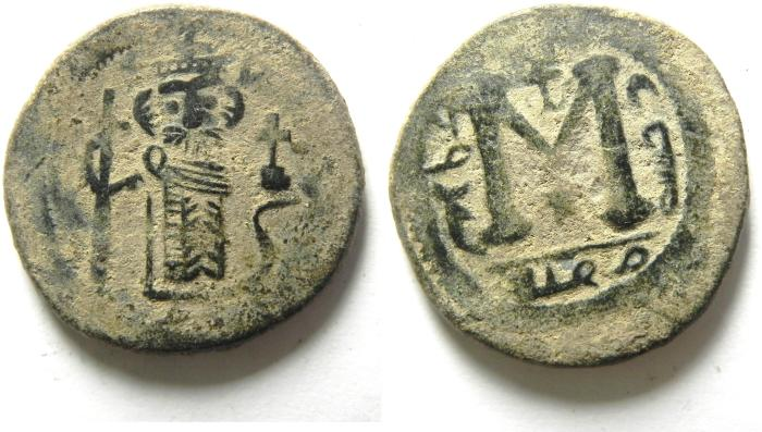 World Coins - BEAUTIFULL AND RARE ARAB BYZANTINE AE FILS, DAMASCUS MINT