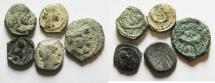 Ancient Coins - AS FOUND: LOT OF 5 NABATAEAN BRONZE COINS