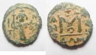 Ancient Coins - ARAB-BYZANTINE AE FALS. DAMASCUS MINT. LATIN TYPE