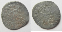 World Coins - Arabic overstrike: MEDIEVAL. Kingdom of Cilician Armenia. Levon IV (AD 1320-1342). AR takvorin (21mm, 2.25g). Sis mint.