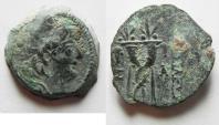 Ancient Coins - Seleukid Kingdom, Alexander II Zebinas, 128-123 BC. AE19
