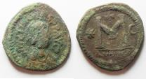 Ancient Coins - AS FOUND. ANASTASIUS AE FOLLIS. HIGH QUALITY