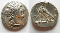 Ancient Coins - Egypt. Ptolemaic kings. Ptolemy VI Philometor (first sole reign, 180-170 BC). AR tetradrachm (25mm, 14.34g) Uncertain Cypriote or Phoenician mint. Struck in era year 84 (179/8 BC).
