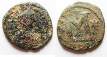 Ancient Coins - justin i ae follis. byzantine. Constantinople