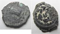 Ancient Coins - JUDAEA. Herod Archelaus AE Prutah