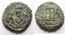 Ancient Coins - Tiberius II Constantine 578-582, Follis, Constantinople