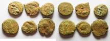 Ancient Coins - LOT OF 6 ELYMAIS AE DRACHMS