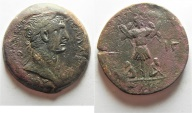 Ancient Coins - Egypt. Alexandria under Trajan (AD 89-117). AE drachm (35mm, 24.98g). Struck in regnal year 13 (AD 109/10)