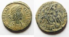 Ancient Coins - CHOICE AS FOUND CONSTANTIUS II AE CENT