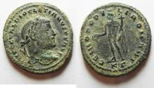 Ancient Coins - LARGE AS FOUND DIOCLETIANUS AE FOLLIS.
