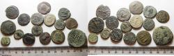 Ancient Coins - ORIGINAL DESERT PATINA. LOT OF 12 MOSTLY ROMAN AE COINS