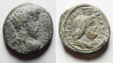 Ancient Coins - CHOICE. NEEDS CLEANING:  Judaea. Caesarea Maritima under Marcus Aurelius (AD 161-180). AE 24mm, 11.73g.