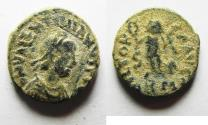 Ancient Coins - VALENTINIAN III AE 4 . NICE AS FOUND