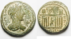 Ancient Coins - Syria, Decapolis. Capitolias under Commodus (AD 177-192). AE 28mm, 10.88gm.3 g, 6h).