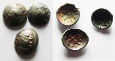 Ancient Coins - Arabia Felix. Kings of Saba. Himyarites. 60 - 100 A.D. Scyphate AR Lot Of 3 Fractional Units. VERY RARE