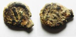 Ancient Coins - JUDAEA. Mattathias Antigonus AE Prutah. 40 - 37 B.C.E.