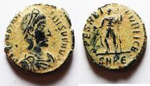 Ancient Coins - CONSTANTIUS II AE 3 . ORIGINAL DESERT PATINA