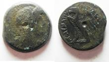 Ancient Coins - PTOLEMAIC EMPIRE. PTOLEMY V 205-180 BC . AE26 . WITH ISIS