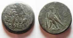 Ancient Coins - GREEK. Ptolemaic kingdom. Ptolemy IV or Ptolemy V (222-205/4 BC or 204-180 BC). AE 34mm, 33.61g. Tyre mint.