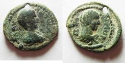 Ancient Coins - UNPUBLISHED: Decapolis. ABILA OR Pella?? under Elagabalus (AD 218-222). AE 21mm, 4.24g.