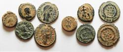 Ancient Coins - ORIGINAL DESERT PATINA. LOT OF 5 ROMAN AE COINS