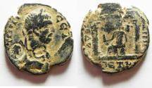 Ancient Coins - ARABIA. PETRA UNDER GETA . AE 28