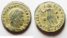 Ancient Coins - BEAUTIFUL AS FOUND CONSTANTINE I AE FOLLIS. DESERT PATINA. ROME