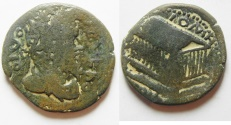 Ancient Coins - Coele Syria. Heliopolis under Caracalla (AD 198-217). AE 28mm, 10.80g. Commemorative issue honoring Divus Septimius Severus
