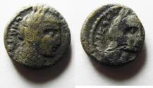 Ancient Coins -  Nabataean Kingdom. Aretas IV (9 BC-AD 40). AR hemidrachm (14mm, 2.80g).