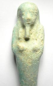 Ancient Coins - ANCIENT EGYPT , FAIENCE USHABTI , 11CM IN HEIGHT , 600 B.C