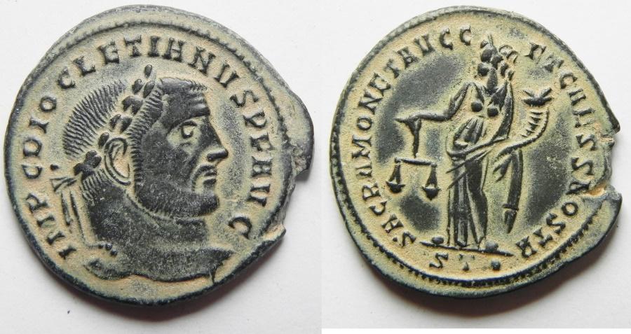 Ancient Coins - Diocletian. A.D. 284-305. Æ follis. Rome