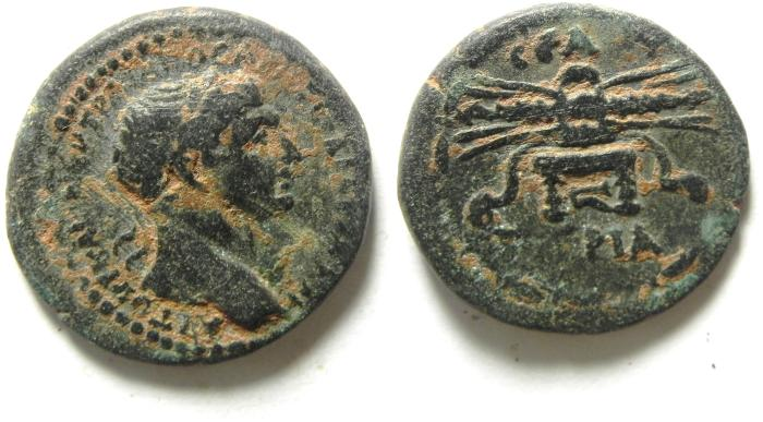 Ancient Coins - Roman Provincial. Syria. Seleucis and Pieria, Seleucia in Pieria under Trajan, AD 98-117. AE 20 , very scarce coin!!!