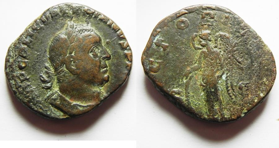 Ancient Coins - Valerian I. A.D. 253-260. Æ sestertius. Rome,