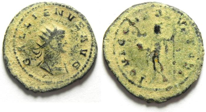 Ancient Coins - GALLIENUS ANTONINIANUS, BEAUTIFULL DESERT PATINA!!!! AS FOUND