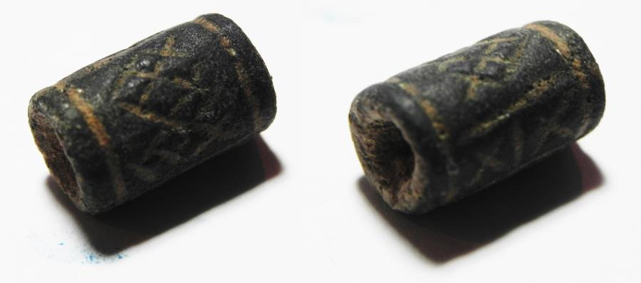 Ancient Coins - ANCIENT HOLY LAND. CANAANITE STONE CYLINDER SEAL. 1400 B.C