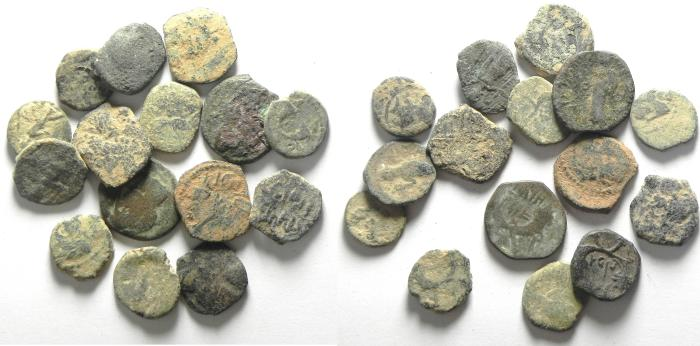 Ancient Coins - LOT OF 15 BRONZE NABATAEAN COINS