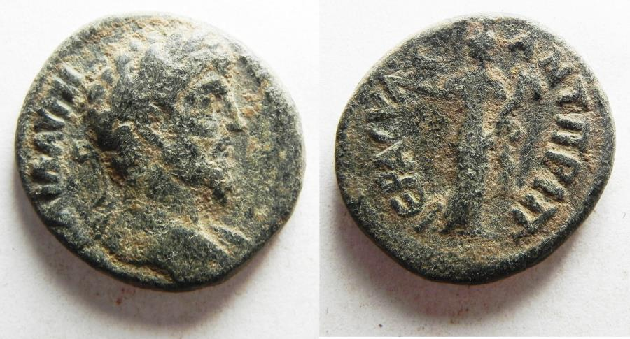 Ancient Coins - DECAPOLIS, Antiochia ad Hippum. Lucius Verus. AD 161-169. Æ 21