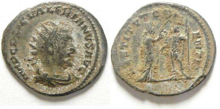 Ancient Coins - GALLIENUS BILLON ANTONINIANUS, NEEDS SOME CLEANING